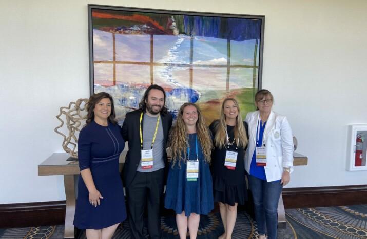 Shannon Watson, David Sawyer, Olivia Beaton, Christy Van Der Westhuizen, and Stephanie Haley-Andrews